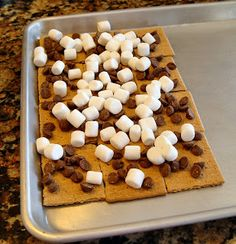 Easy Indoor Smores - did these tonight and it worked like a charm.   Delicious!