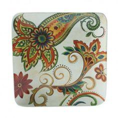Prato quadrado Marrakech cerâmica creme 22cm
