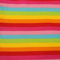4b7a1d9845f Knit Basics Sorbet Rainbow Stripe Cotton Lycra Knit - Peek-a-Boo Pattern  Shop