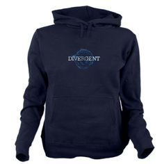 Divergent Hoodie from Cafepress, Official Fan Design swag, Dauntless, #divergent  #divergenthoodie