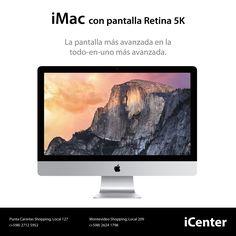 iMac con pantalla Retina 5K. La pantalla más avanzada en la todo-en-uno más avanzada. Precio U$S 4.499.  Más información: http://www.apple.com/la/imac-with-retina/ Especificaciones: http://www.apple.com/la/imac-with-retina/specs/ OS X Yosemite: http://www.apple.com/la/osx/ iCloud: http://www.apple.com/la/icloud/