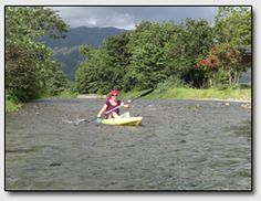 As we are outdoor lovers, we were very excited about our kayak trip on the Babinda Creek. It took us just a bit over an hour to drive from Mission Beach to the lovely place of Babinda. At 8 o'clock we arrived at Babinda Kayak Hire, where the friendly owner Garry was already waiting for us. He took the time to explain what we were about to experience, geared us up and soon we found ourselves in a kayak on the water. Mission Beach, Queensland Australia, Very Excited, Kayaking, Islands, Golf Courses, This Is Us, Waiting, Coast