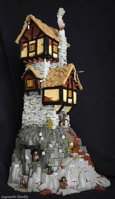 Des maisons en LEGO inspirées de l'univers du Seigneur de Anneaux (image)