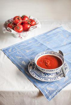 Crema de verduras rojas asadas de Míriam García para el blog A tu Gusto de superSol. La mejor gastronomía :)