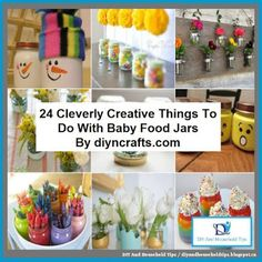 DIY And Household Tips: 24 Cleverly Creative Things To Do With Baby Food J...