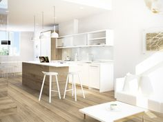 Spectacular minimalist and chef inspired kitchens at BLANC Modern Kitsilano Vancouver real estate development.