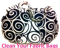 How to Clean and protect your fabric bags and accessories from Sew Spoiled.