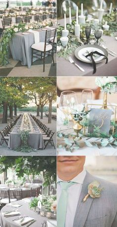 Timeless Grey Wedding Color Palette Ideas to Inspire Grey Wedding Stationery, Grey Wedding Decor, Gray Wedding Colors, Green Wedding Invitations, Wedding Decorations, Wedding Ideas, Wedding Tables, Wedding Details, Wedding Inspiration