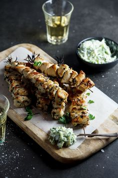 (via Chicken Souvlaki with Zucchini Tzatziki | Simply Delicious)