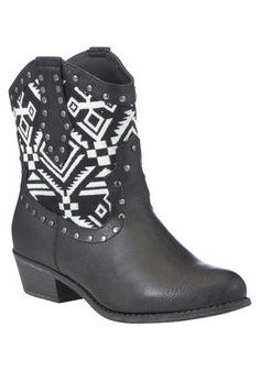 F&F Aztec Print Cowboy Boots