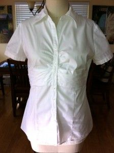 Refashioned White Blouse for Beginners! www.marysthriftychic.com
