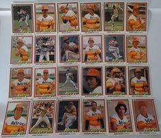 1981 Donruss Houston Astros Team Set of 24 Baseball Cards With 2 Error Cards #HoustonAstros