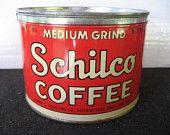 Vintage Schilco Keywind Coffee Tin by Frank B Shilling co.