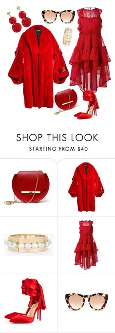 """Red"" by nedelamirela ❤ liked on Polyvore featuring Angela Valentine Handbags, Dolce&Gabbana, Chico's, Alberta Ferretti, Christian Louboutin, Michael Kors and Oscar de la Renta"