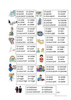Study German, Learn German, German Grammar, German Words, German Language Learning, Language Study, Speech Language Therapy, Speech And Language, Adjectives For Kids
