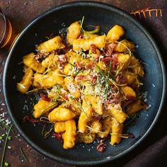 Roast Pumpkin Gnocchi With Crisp Prosciutto, Leek & Chives / Jamie Oliver