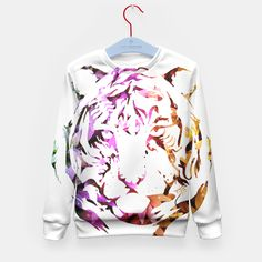 Floral tiger -full 1-, Live Heroes - child sweatshirt - Available here: https://liveheroes.com/es/product/show/176709 Visit my live heroes brand! Thanks a lot!