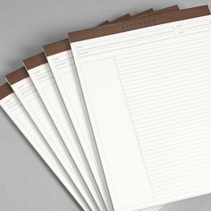 $32 Freeleaf White Annotation Ruled Pads, Letter - Paper - Levenger