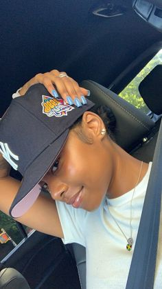 Pretty Black Girls, Beautiful Black Girl, Bae, Pretty Females, Black Girl Aesthetic, Black Girls Hairstyles, Baddie Hairstyles, Girls Makeup, Girl With Hat