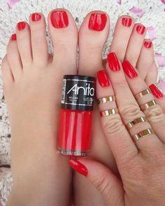 Esmalte Anita - Helena Pedicure Colors, Manicure E Pedicure, Toe Nail Designs, Toe Nails, Pretty Nails, Hair Beauty, Nail Polish, Manicures, Lingerie