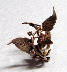 Fairy Tale Forest Ivy Leaf Ring by ranaway on Etsy, $40.99