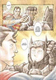 RPG, manga , quadrinhos , cultura em geral: Tá explicado como o batman bloqueou o soco do superman