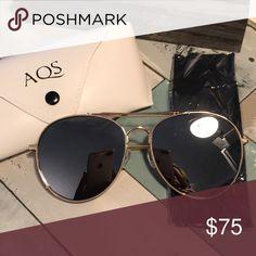 4d2b6003051 AQS Women s Fox gold sunglasses Brand new Brand new in package AQS Fox gold  sunglasses.