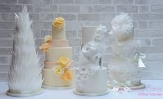wafer paper flowers tutorial on Pretty Witty Cakes