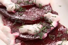 Beet baked with cheese sauce