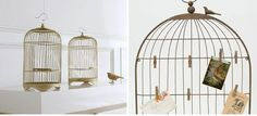 birdcage for cards on the gift table