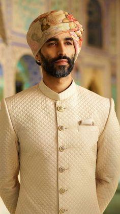 Dressing for wedding Sherwani For Men Wedding, Wedding Dresses Men Indian, Sherwani Groom, Mens Sherwani, Wedding Dress Men, Punjabi Wedding, Indian Weddings, Wedding Wear, Farm Wedding