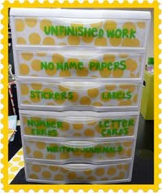 The Very Busy Kindergarten: classroom organization education-misc Organization And Management, Paper Organization, Teacher Organization, Teacher Tools, Teacher Hacks, Teacher Stuff, Organizing Papers, Teacher Resources, Classroom Organisation