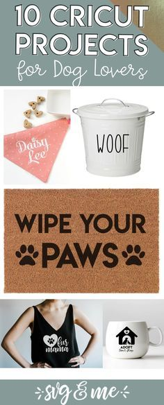 I CANNOT wait to make a couple of these dog Cricut project ideas! Love how simple they are too - easy enough for a beginner! DIY dog food storage, bandanas, pet memorial candles and more. Plus almost all of them come with free SVG files so it couldn't be Diy Tumblr, Cricut Ideas, Cricut Craft, Cricut Project Ideas, Cricut Vinyl, Crafty Projects, Shadow Box, Diy Dog Gifts, Homemade Gifts