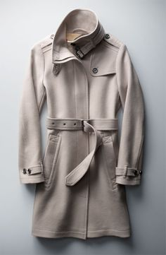 The Best Coat Ever: Burberry Brit 'Rushworth' Belted Wool Blend Coat #Nordstrom #Holiday