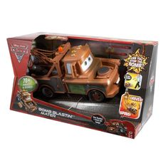 Our best DEALS of the year! Up to 75% off! FAST shipping within HOURS! Get it Fast & BEFORE Christmas! http://stores.ebay.com/My-Treasures SAVE $10 WHEN YOU SPEND $50 OR MORE ENDS IN 2 DAYSNew DISNEY CARS 2 BOMB BLASTIN MATER TOW Truck *DRIVES *SPINS *TALKS *BLAST #Mattel