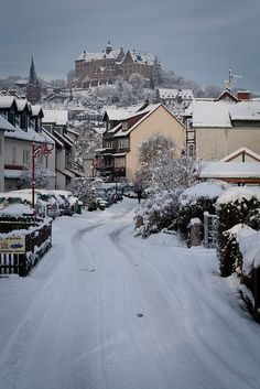 Snow in Marburg (Marburg, Germany) by banjira! on Flickr.