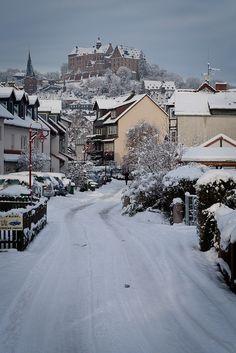 Snow in Marburg (Marburg, Germany) by banjira! on Flickr.