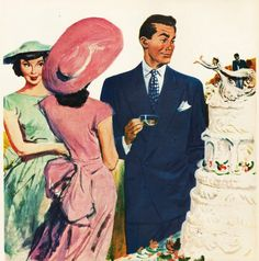 Vintage mens fashion Ad hart Shaffner & 1948