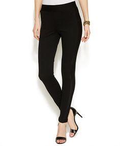 INC International Concepts Petite Mesh Side-Insert Skinny Pants
