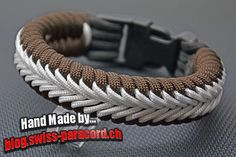 Center Stitched Fishtail paracord bracelet