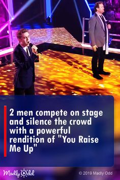 2 Men Compete on Stage and Silence the Crowd with a Powerful Rendition of 'You Raise Me Up' Christian Singers, Christian Videos, Christian Music, Got Talent Videos, Talent Show, Live Music, Good Music, Americans Got Talent, Best Songs