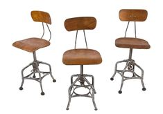 Antiques Frank Pair Of Vintage Industrial Angle Steel Co Stools Metal From A Chevy Plant 1900-1950