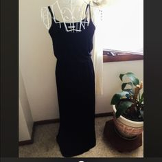 Lush black maxi dress☀️ This item is in good condition but it has been worn please ask any questions before purchasing.  This item will only be traded for an autographed Authentic Chanel original, a Lamborghini, a penthouse in Paris, or the services of an Audi mechanic. Lush Dresses Maxi