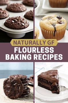 They're a great place to start if you're not comfortable yet baking with gluten free flour blends—or you've run out of your favorite blend. Source by gfshoestring Cookies Sans Gluten, Dessert Sans Gluten, Bon Dessert, Gluten Free Sweets, Gluten Free Baking, Dairy Free Recipes, Baking Recipes, Gf Recipes, Paleo Dessert