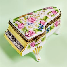 Limoges Piano with Romantic Roses box The Cottage Shop