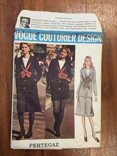 Vogue Couturier Design 2593 by Pertegaz | 1970 Misses' Suit, Top, Shorts and Scarf