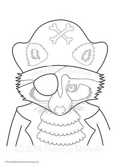 Raccoon Pirate Coloring Page By Thaneeya McArdle