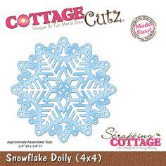 CottageCutz Snowflake Doily (4x4)