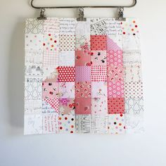 Heart quilt block tutorial - mostly squares so looks quite easy