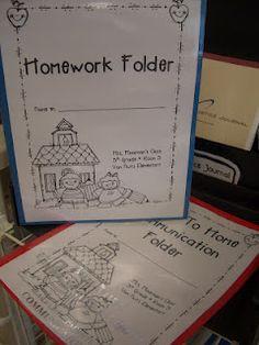 Homework Folder, School/Home Communication folder, and other ideas for the classroom. Too Cool For School, School Fun, School Ideas, School Stuff, School Site, Future Classroom, School Classroom, Classroom Ideas, Classroom Freebies